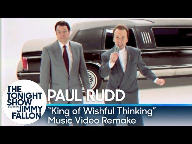 """Jimmy Fallon and Paul Rudd Recreate """"King of Wishful Thinking"""" Music Video"""