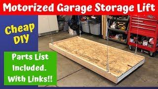 Motorized Garage Storage Lift Build