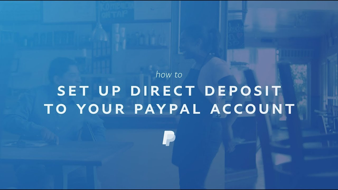 How to Set Up Direct Deposit with PayPal