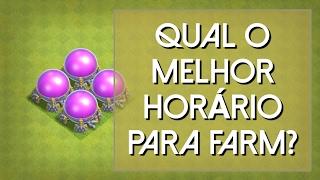 QUAL MELHOR HORÁRIO PARA FARMAR? - Clash of Clans