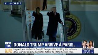 Donald Trump est arrivé à Paris pour les commémorations du 11 novembre