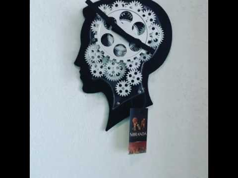 Head with Turning Gears Wall Clock