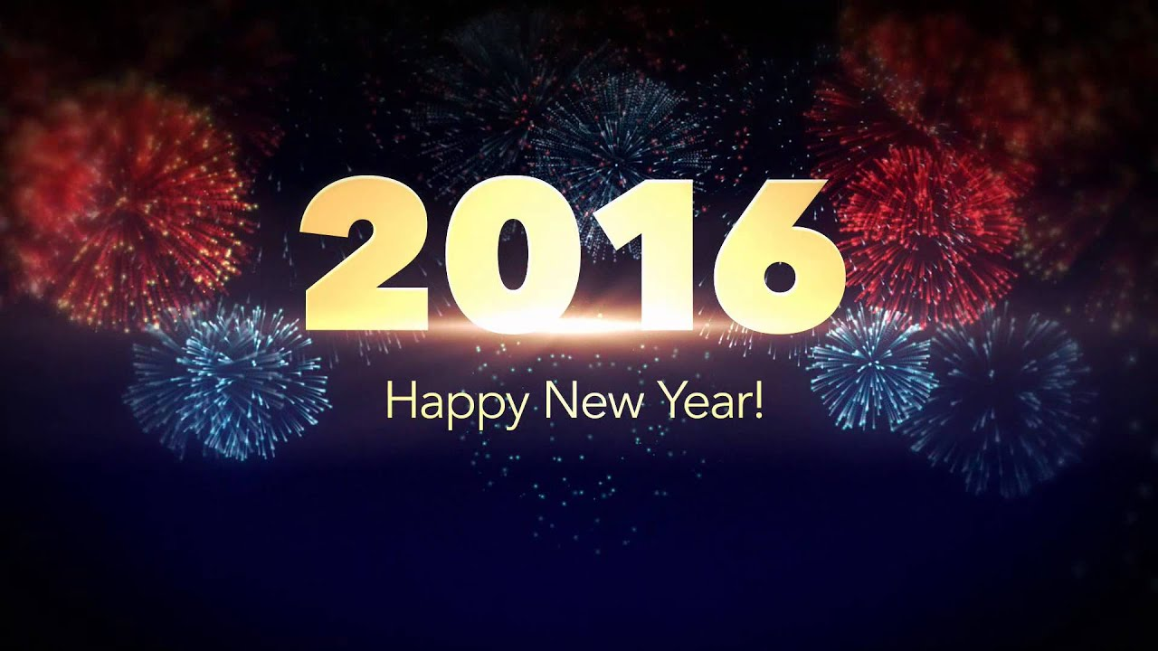 Happy New Year Greeting 2016 Fireworks - YouTube