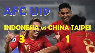 Gol Indonesia vs China Taipei AFC U19