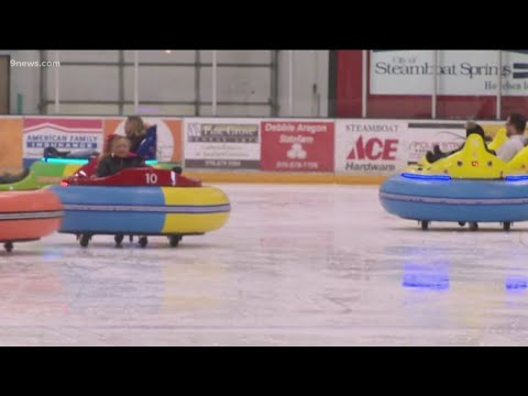 BEARDO - Bumper cars on ice are a thing in Colorado