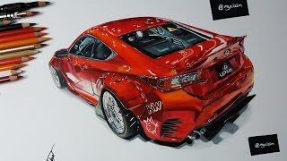 Rocket Bunny Lexus RC350 | Car Drawing
