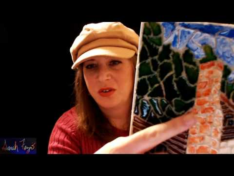 How to Make a Mosaic with Pouring Medium, Acrylic Paint, and Resin Sand (no glass) w/ Sarah Fezio