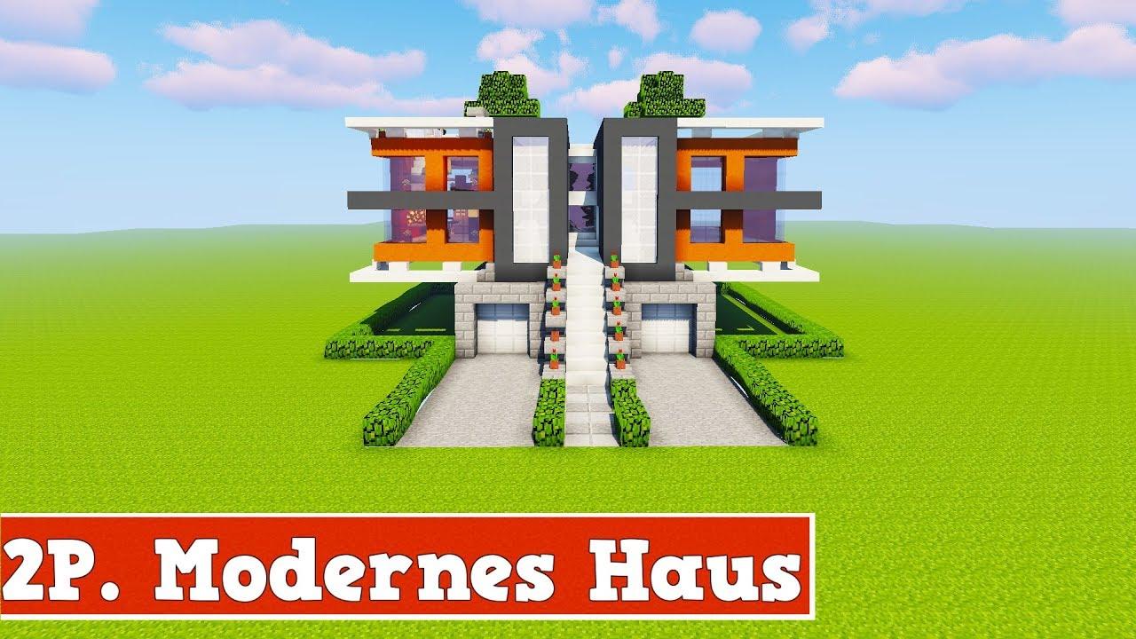 Wie baut man ein 2 spieler modernes haus in minecraft for Minecraft modernes haus download 1 7 2