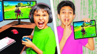 CONTROLLING my Little Brother's PC while He Plays Fortnite! (HACKED)