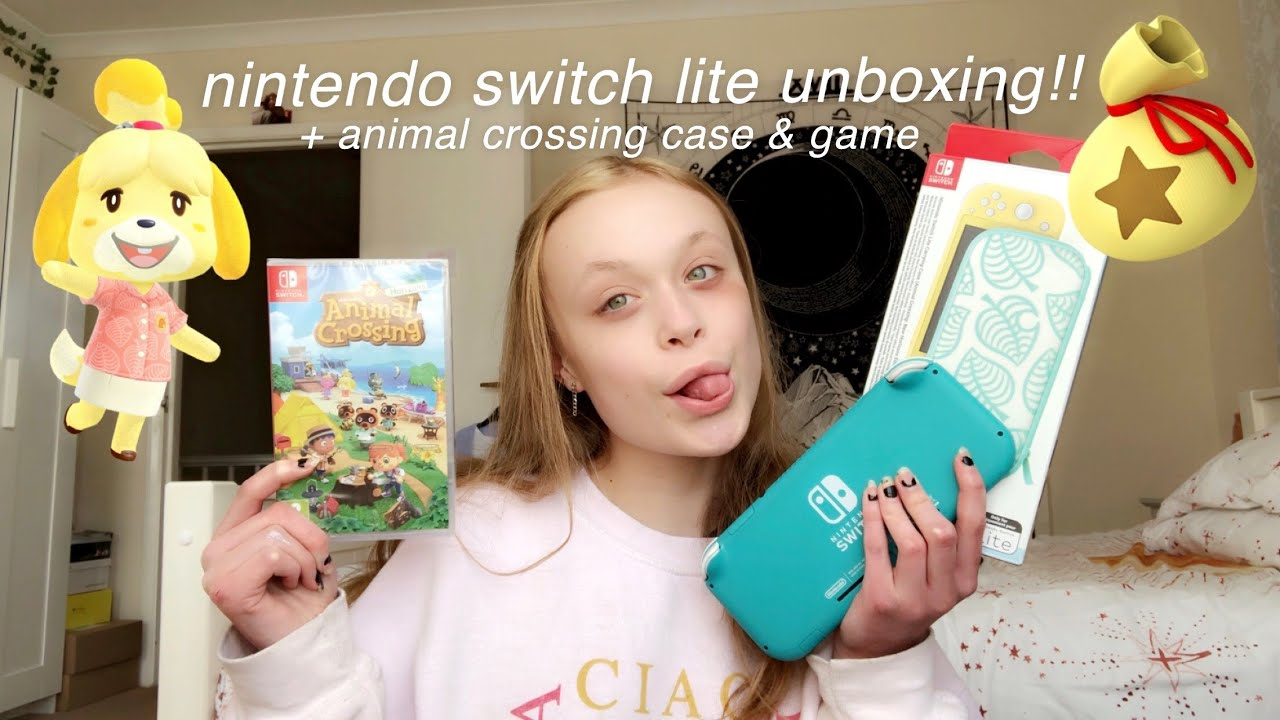 Nintendo Switch Lite Unboxing Animal Crossing Case Youtube