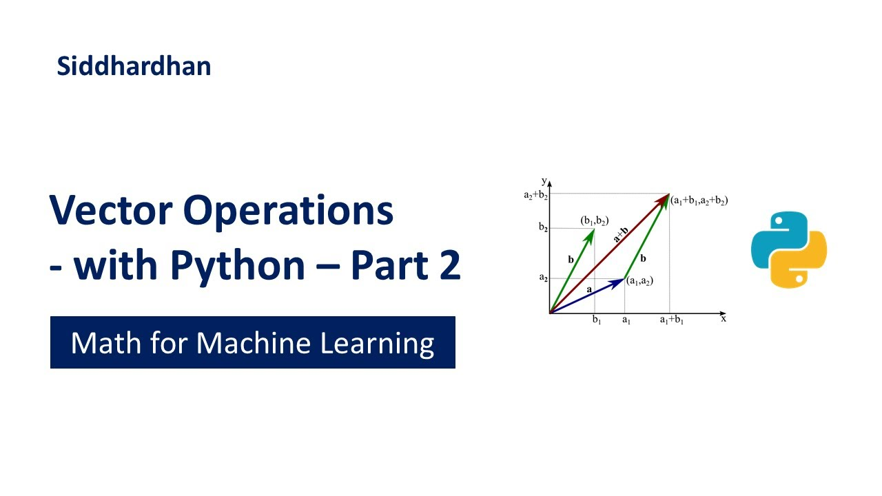 Vector Operations - in Python - Part 2 | Dot Product | Cross Product | Projection of vector