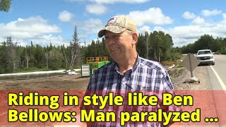 Riding in style like Ben Bellows: Man paralyzed after moose accident receives moving gift