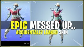 *NEW* EPIC ACCIDENTALLY LEAKS ENCRYPTED SKIN! (Fortnite Messed Up)