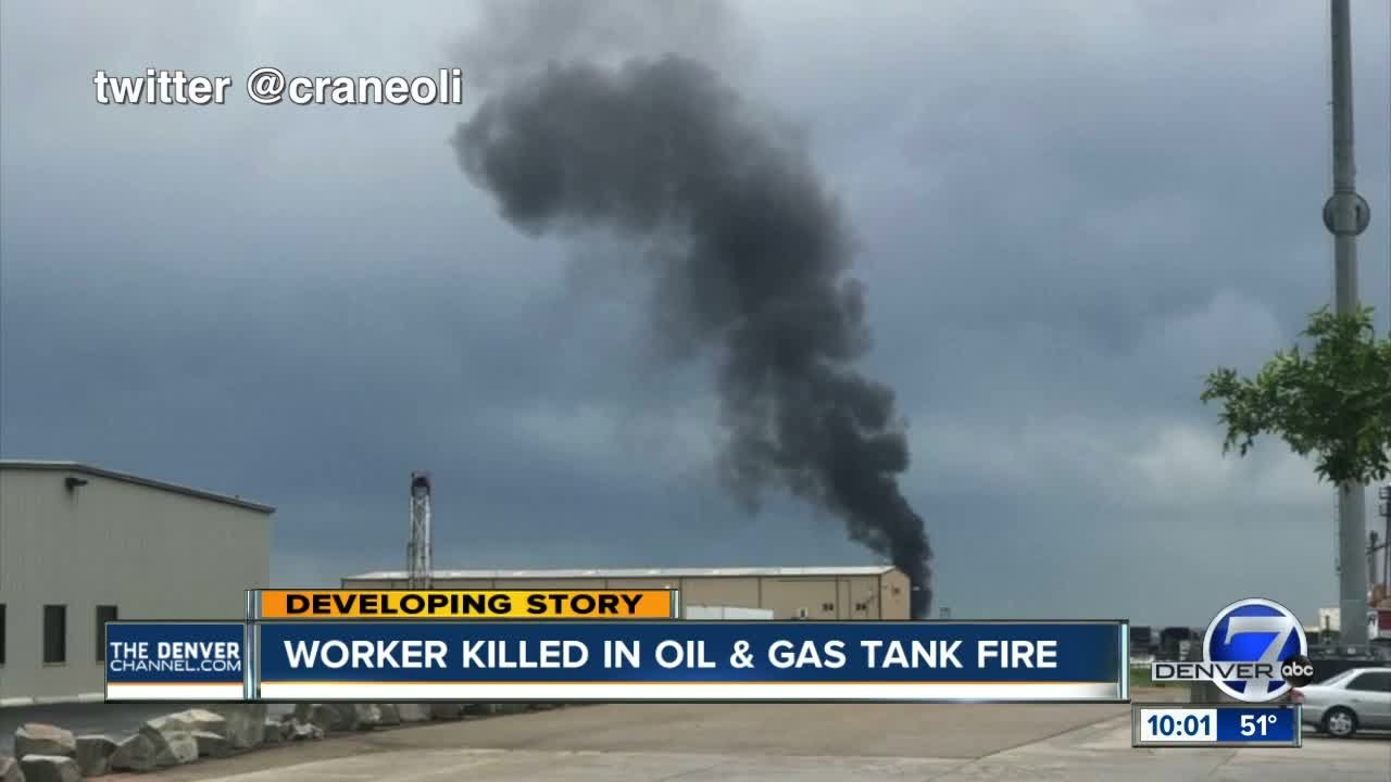 Worker killed in oil and gas tank fire - YouTube