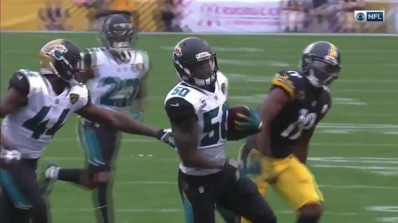 Telvin Smith Pick 6 vs Steelers