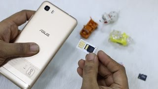 Asus Zenfone 3s Max : How to Insert SIM & SD Card