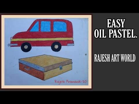 oil pastel drawing || oil pastel painting || easy oil pastel for kids