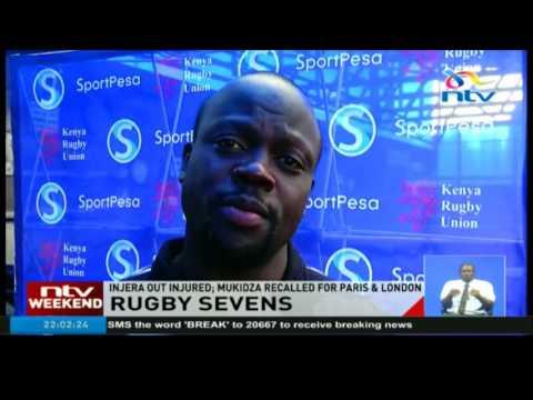 Rugby sevens: Injera out injured, Mukidza recalled for Paris & London