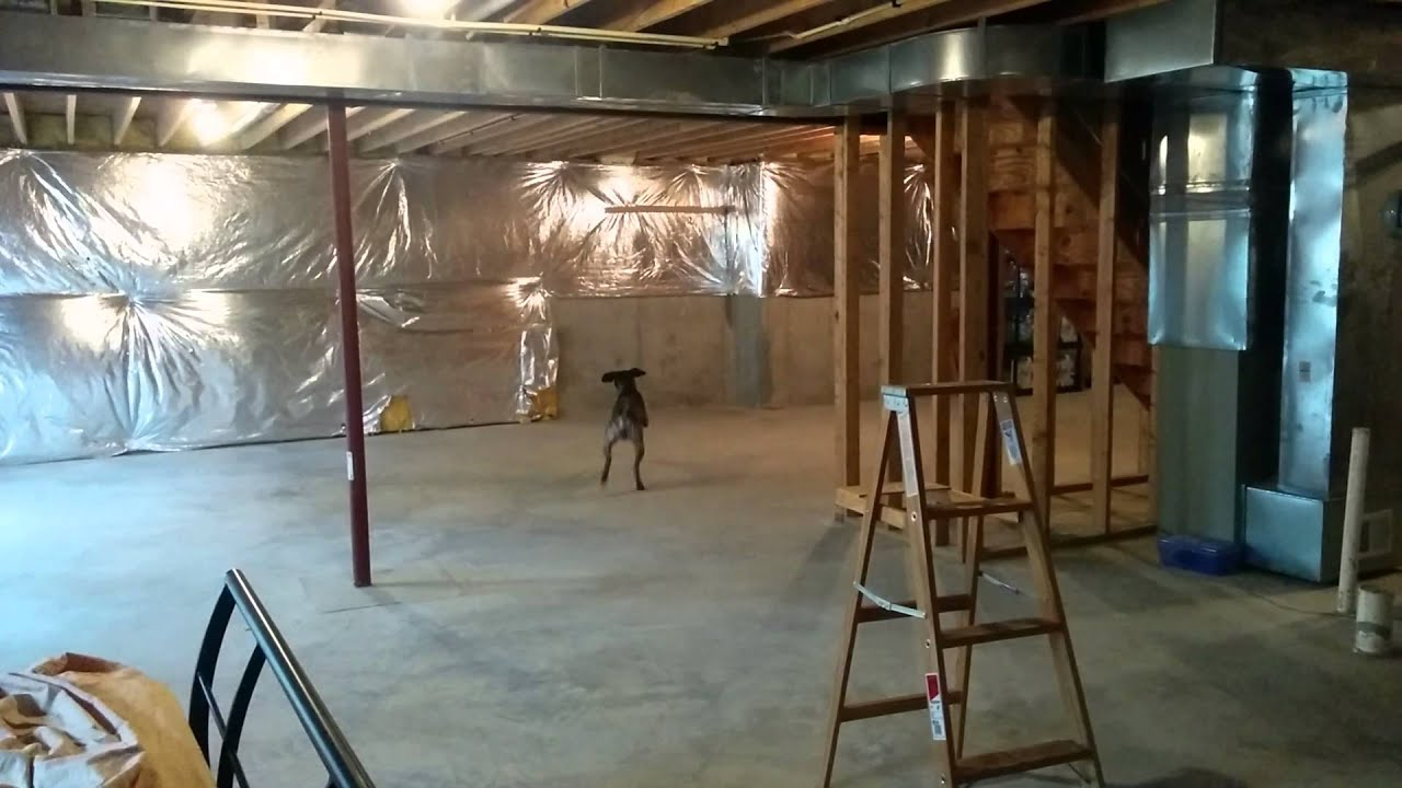 One of the benefits of an unfinished basement - YouTube