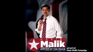 Nasir Malik - Republican for Justice of the Peace - Precinct 4 Place 2 - Early Voting