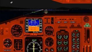 Microsoft Flight Simulator for Windows 95 | Challenge: Beautiful Bay Area Night | Boeing 737