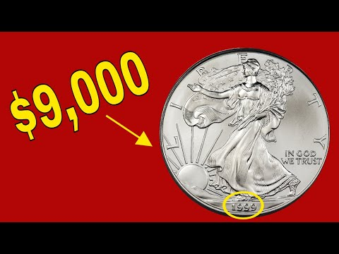 Rare 1999 Silver American Eagle Coins Worth Money - Coins To Look For! Coin Collecting Silver Coins!