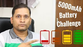 5000 mAh Battery challenge 7GB Data in 1 Day | Ft. P55 MAX