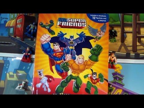 DC Super Friends Batman & Robin Superman Toys Figures & Storybook Unboxing!