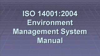 ISO 14001 Environmental Management System Manual