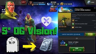 Buying 5* OG Vision! Rank Up! Review! RIP UNITS! - Marvel Contest Of Champions