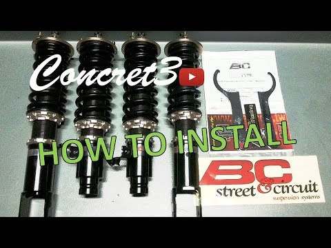 How to Install BC coilovers | Honda CRX | Mounting Guide | EG-EK-DC2