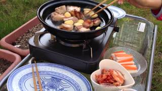 .サムギョプサルを庭で作る I'll try to make sam-gyeopssal in Garden!