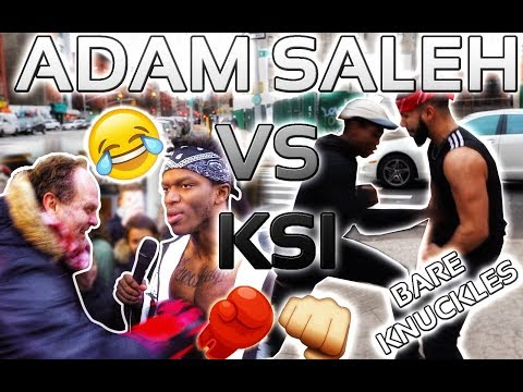 GETTING PUNCHED IN PUBLIC.. KSI vs. ADAM SALEH