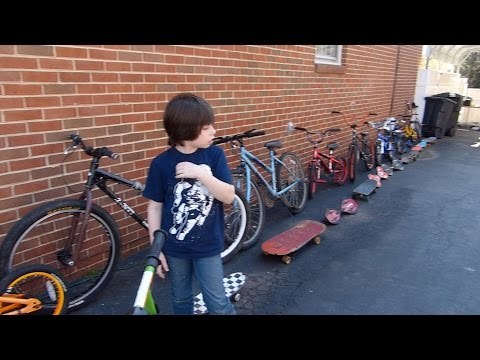 Too many bikes and skateboards!
