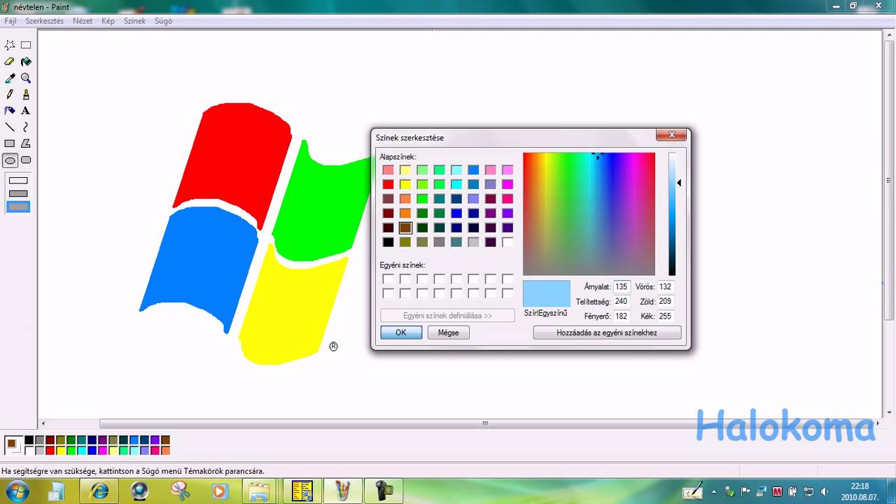 How to draw easy windows logo on mspaint in 1 minute Simple drawing program for windows