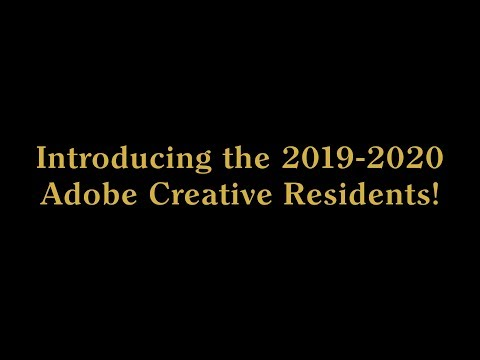 Live from 99U: Introducing the 2019-2020 Adobe Creative Residents!