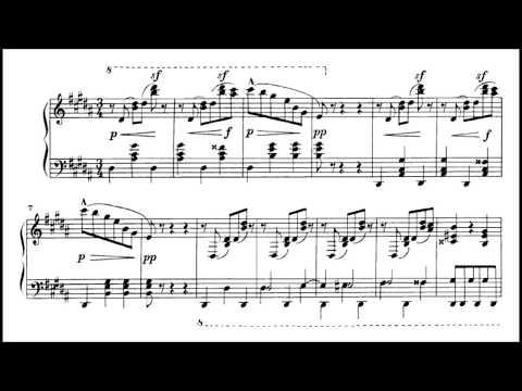 ALEKSANDR SCRIABIN - ALL WALTZES FOR PIANO SOLO (audio + sheet music)