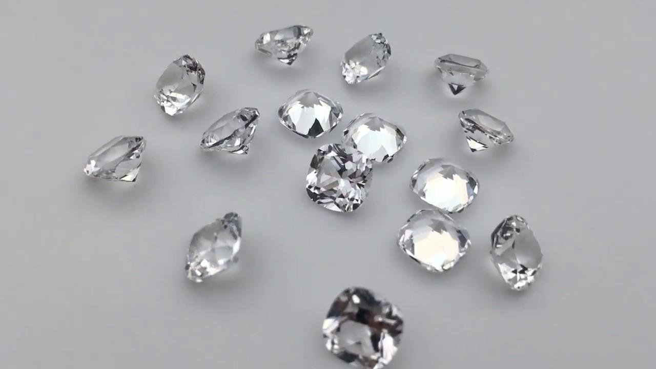 Synthetic White Sapphire cushion shape gemstones wholesale