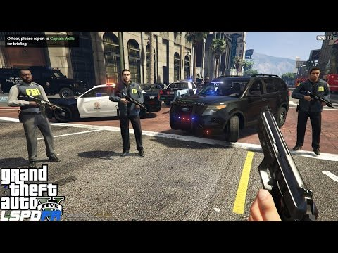 GTA 5 LSPDFR Police Mod 157 | FBI Special Agent Patrol | Pacific Bank Heist Robbed By Armed Gunman