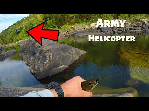 STRAFED BY ARMY HELICOPTER Smallmouth Bass Fishing Cheat River West Virginia River Smallmouth Bass
