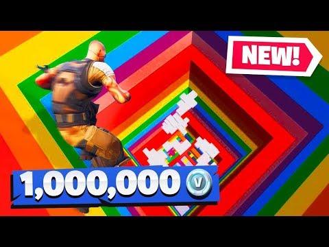 If You WIN, You Get 1 Million VBUCKS (Fortnite Rainbow Dropper Challenge)