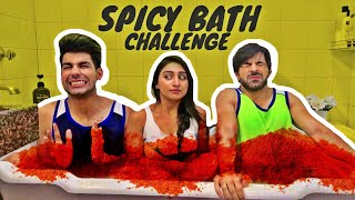 Spicy Bath Challenge | Rimorav Vlogs