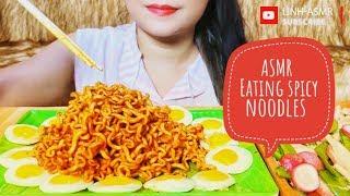 ASMR eating Samyang Spicy noodles,mukbang | LINH-ASMR