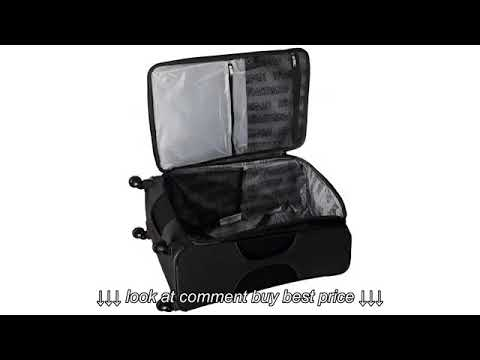Must See Review! American Tourister Ilite Max Softside Wheeled Boarding Bag, Black