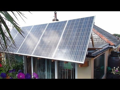 How to Install a Solar Panel Adjusting Canopy for a Flat Roof DIY Instructions / Complete Guide