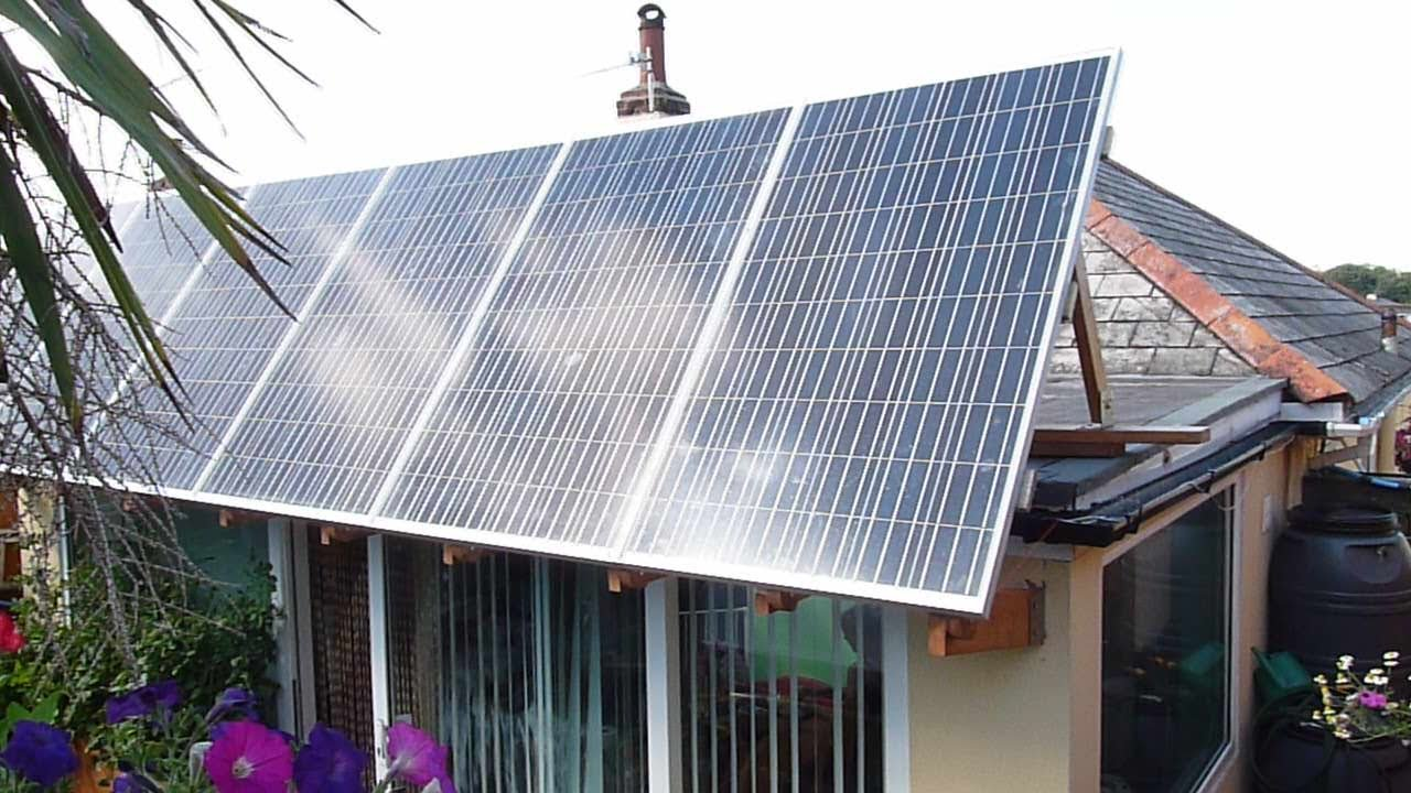 How To Install A Solar Panel Adjusting Canopy For A Flat