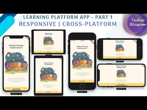 Flutter Responsive UI   Learning Platform App - Part 1