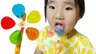 Colorful Pinweel Candy 알록달록 바람개비 사탕 팝핑캔디 키재기 보드게임 대결놀이