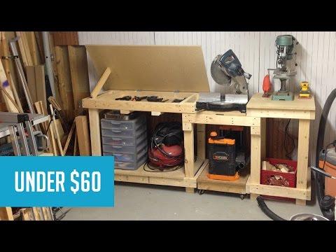 Miter Saw Work Station Youtube