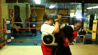 Jeff Wright Training On The Mitts @ The Watertown Boxing Club